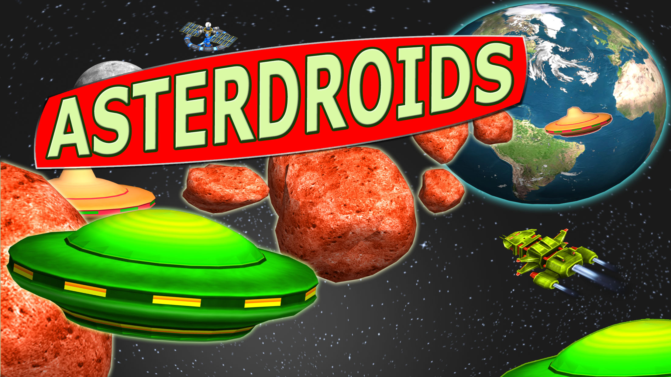 AsterDroids released for all Mobile Devices - Gorgeous 3D Space Shooter Image